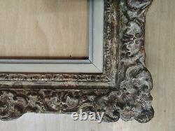 Cadre montparnasse 3F bois patiné doré feuillure 27 cm x 22 frame peinture