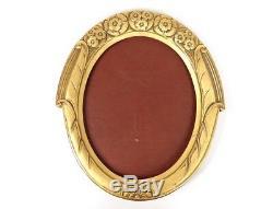 Cadre ovale bois doré fleurs feuillage frame Art Nouveau XIXème siècle