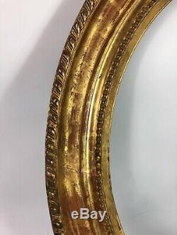 Cadre ovale bois sculpté doré 58x50,5cm feuillure 47x39,5cm Eb7