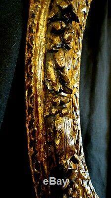 Cadre ovale en chêne sculpté doré XVII siècle Epoque Louis XIII-LouisXIV