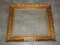 Cadre peinture huile tableau Montparnasse doré vintage Framed antique style old