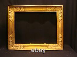 Cadre sculpté doré en bois 35 x 27 début 20ème siècle