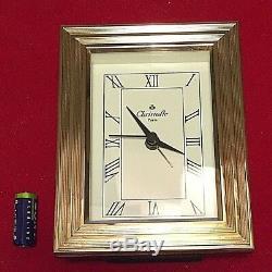 Christofle Parisvéritable Horloge Poinçonnéecadre Doréearrière Boisrarefr