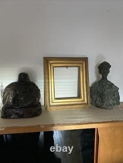 E. L INFROIT Ancien Cadre Bois Sculpté Doré Louis XVI D Époque