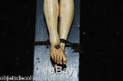 EXCEPTIONNEL CHRIST XVIIIe Cadre Bois doré XVIIIe CRUCIFIX RELIGION JESUS CHRIST