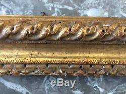 EXCEPTIONNEL Cadre d'EPOQUE LOUIS XIII 17ième XVIIe Noyer Bois sculpté doré
