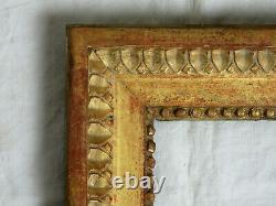 Exceptionnel CADRE, bois sculpté et doré, époque LOUIS XVI, deuxième moitié 18è