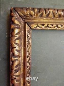 Exceptionnel et rare CADRE d' époque LOUIS XIII en bois sculpté et doré, 17ème