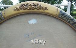GRAND CADRE ART DECO STYLISE ENCADREMENT 1930 GRAVURE LITHO, MIROIR, 57X47 vitré