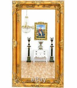 GRAND MIROIR BAROQUE DORE 150x90cm CADRE EN BOIS ROCOCO ROCAILLES STYLE LOUIS XV