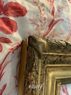 Gd Cadre Ancien Bois Stuc Doré Barbizon Tableau Antique Victorian Painting Frame