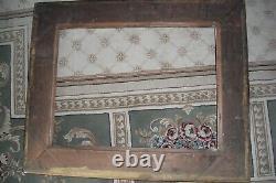 Grand Cadre Bois et stuc 19e doré pour tableau de 58 cent x 44 cent