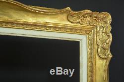 Grand Cadre Montparnasse ancien en bois doré tableau hst toile frame 15f rare
