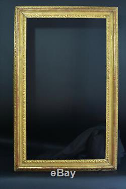 Grand Cadre Tableau en bois sculpté doré Italien 18 ème antique Frame Cornicce
