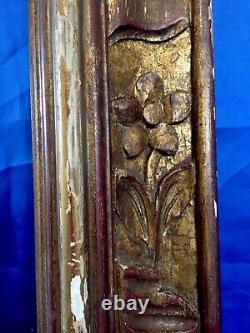 Grand Cadre en Bois Sculpté et Doré dEpoque Louis XIV Haute Époque