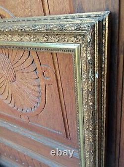 Grand cadre Barbizon doré à la feuille d'époque Napoléon III Format 12 F