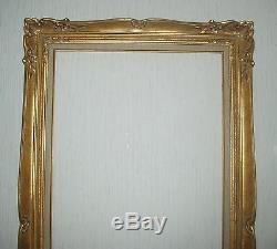 Grand cadre MONTPARNASSE doré à la feuille d'or feuillure 92,3 x 46,3 cm
