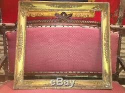 Grand cadre à palmettes doré à la feuille d'or de la fin du XVIIIe siècle