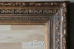 Grand cadre ancien 62 x 46cm Bois sculpté et doré