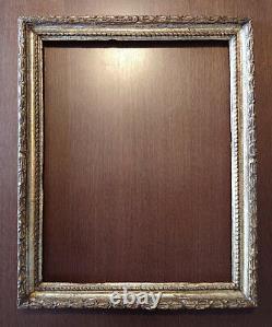 Grand cadre ancien, bois sculpté. Cadre Napolitain Salvator Rosa, Italie 17ème