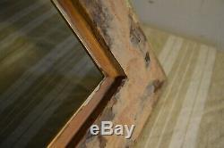 Grand cadre bois doré stuc ancien 19ème encadrement
