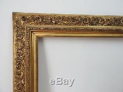 Grand cadre bois et stuc doré de style italien époque XIXème, monté à clefs 2/2