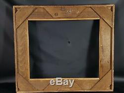 Grand cadre bois sculpté doré XIX° s. 78x69 cm enchassement 59x49 cm TB état