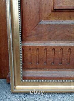 Grand cadre contemporain doré à la feuille de Style Louis XVI 25 F environ