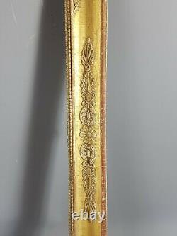 Grand cadre début XIXe s. Bois stuc doré d'origine 78x67,5 feuillure 69x58 cm
