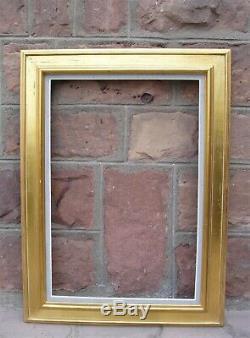 Grand cadre doré des années 1960 feuillure 81 x 54 cm (format 25 M)