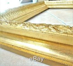 Grand cadre du XIXème s. Bois doré à la feuille, superbe qualité 75,5 x 85,5 cm