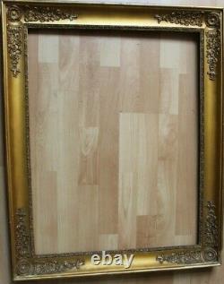 Grand cadre empire ancien 71,5cm x 55,5cm XIXème Bois Stuc doré