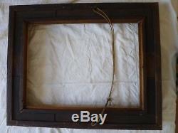 Grand cadre en bois doré XIXème pour tableau ou miroir de 50 x 66