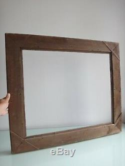 Grand cadre montparnasse bois et stuc doré 83cm x 71cm Antique frame wooden XIX