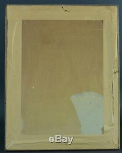 Gravure ancienne Louis XVI cadre bois doré le retour carte à jouer Schenau Saxe