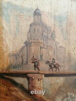 HSP Ecole Autrichienne Paysage Debut XIXe Cadre Ancien Bois Doré Antic Painting