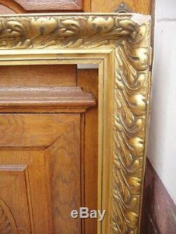 Important cadre doré début XXe siècle feuillure 10,8 x 72,8 cm Format 40 P
