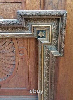 Important cadre en bois doré à la feuille de forme complexe Napoléon III