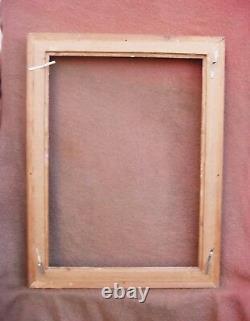 Important cadre en bois doré du début du XXe siècle feuillure 72 x 52 cm