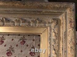 Joli Cadre Montparnasse sculpté main et dorure feuille format 10 Marine 33x55