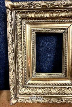 Jolie paire de cadres époque Napoléon III en bois doré