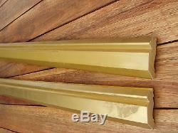 Lot de 4 anciennes larges baguettes dorées des années 1960