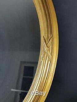 MIroir Ancien cadre bois/stuc noeud style Louis XV, 65 x 47 cm