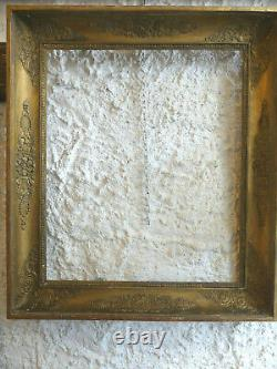 Magnifique CADRE doré d'époque EMPIRE, modèle PALMETTES, monté à clé, début 19è