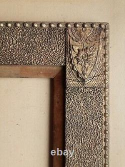Magnifique cadre en bois et stucs dorés de la fin du XIXe siècle