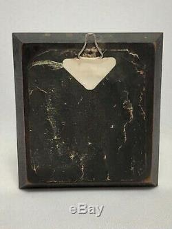Miniature Debut 19eme Homme En Redingote Cadre Bois Noirci Et Laiton Dore C1767