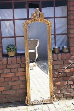 Miroir Baroque 176x58 CM Style Louis XV Pour Palais Cadre Doré D'un Chteau