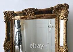 Miroir à Parcloses Cadre Mural en Bois Doré XXe siècle Miroir Ancien