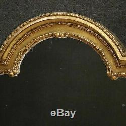 Miroir caminiera en bois sculpté d'or cadre italienne style antique 900