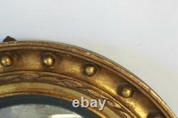 Miroir de sorcière cadre bois doré